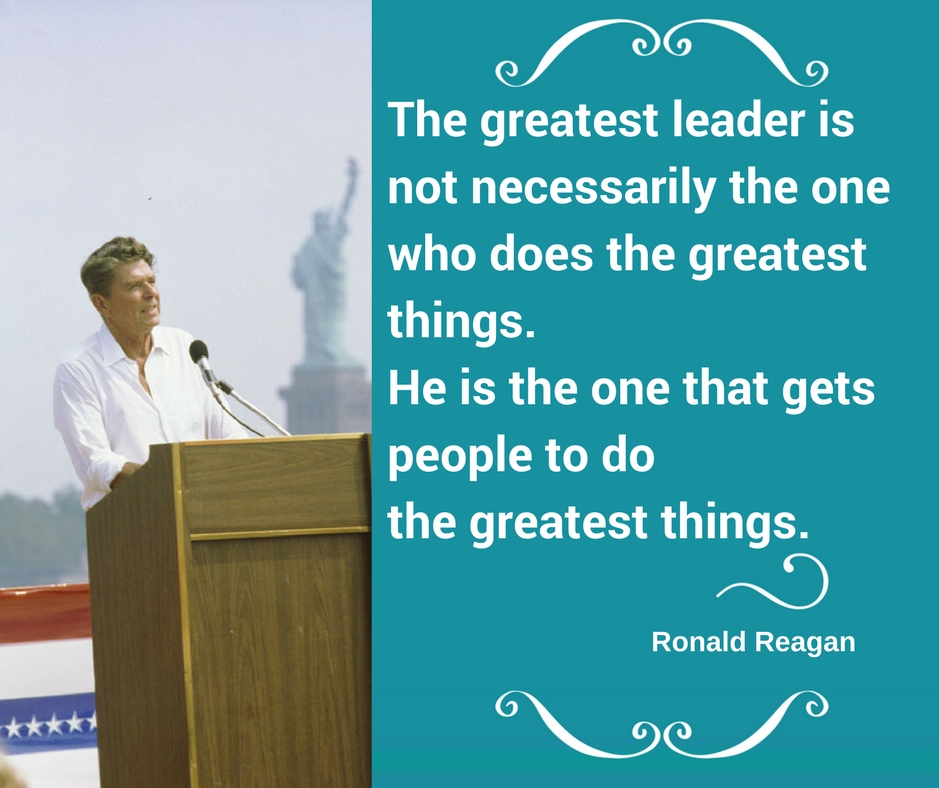 the greatest leader is not necessarily the one who does