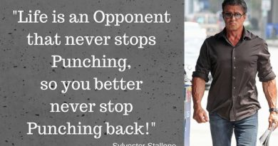 The encourager. Sylvester Stallone Motivational Quotes.
