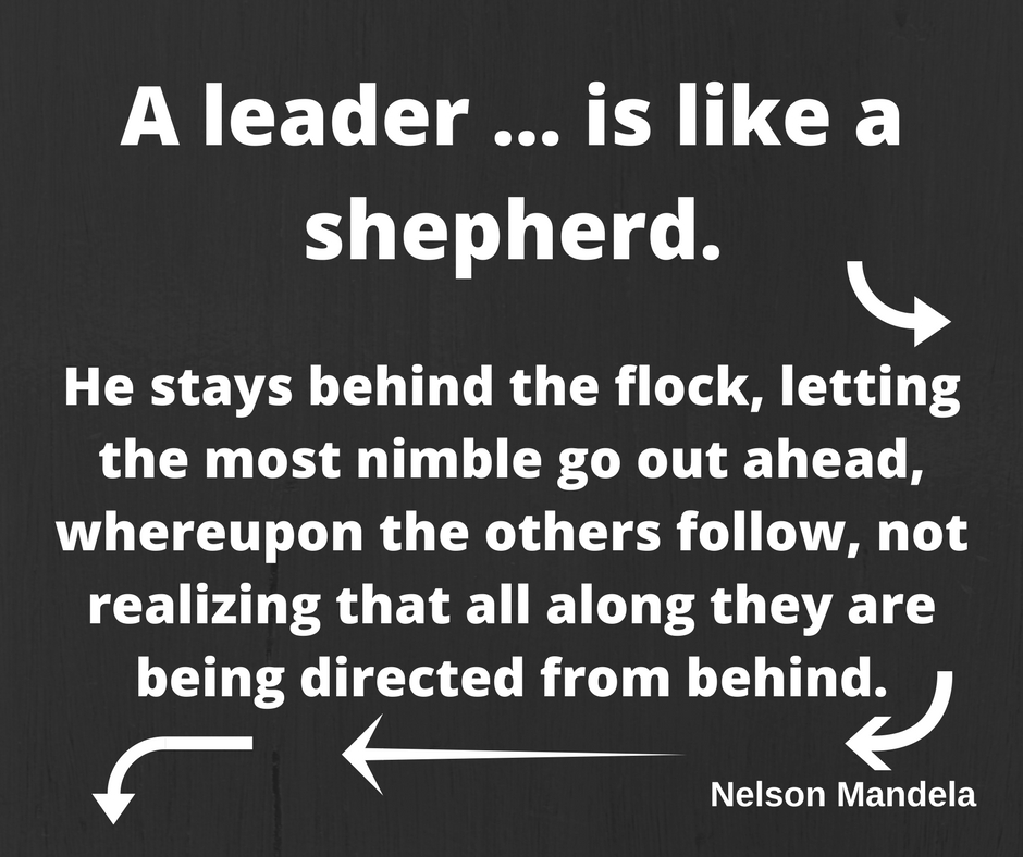 Good Leadership Quotes: What Makes Good Leader Quotes. A Leader Is Like A Shepherd