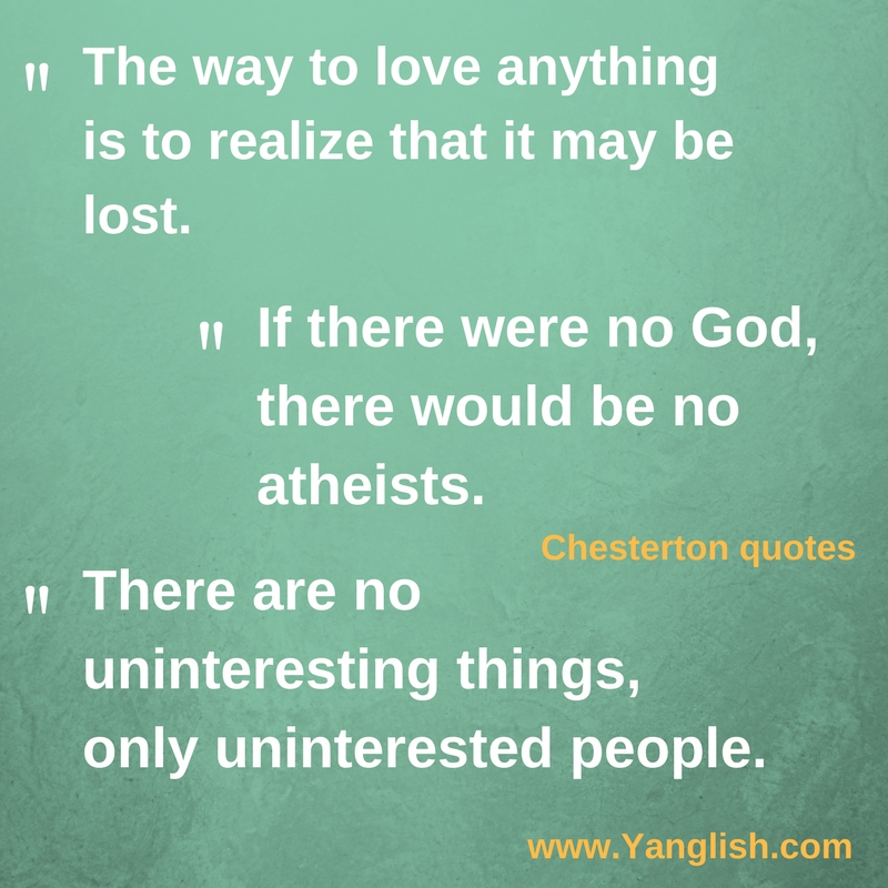 GK Chesterton Quotes