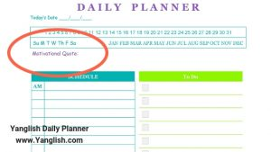 Daily Planner Motivational Quotes